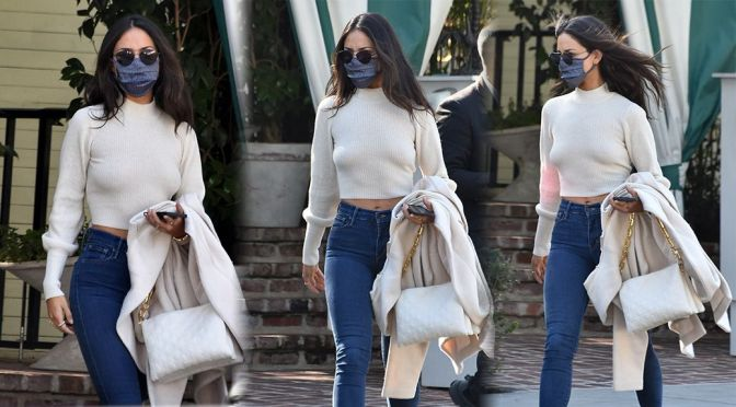Eiza Gonzalez – Gorgeous Braless Candids at San Vicente Bungalows in West Hollywood