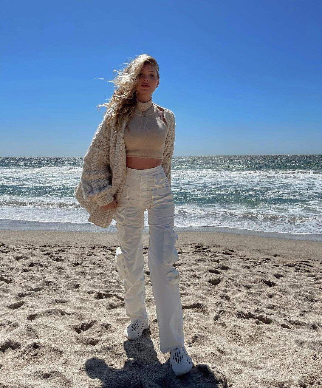 Elsa Hosk On Beach