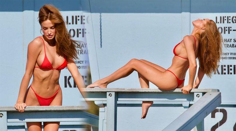 Haley Kalil Sexy Body In Thong Bikini