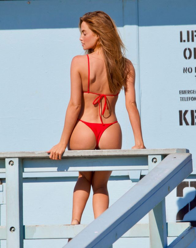 Haley Kalil Sexy Red Bikini