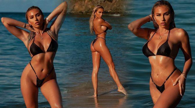 Khloe Terae – Gorgeous Body and Ass in a Tiny Black Bikini