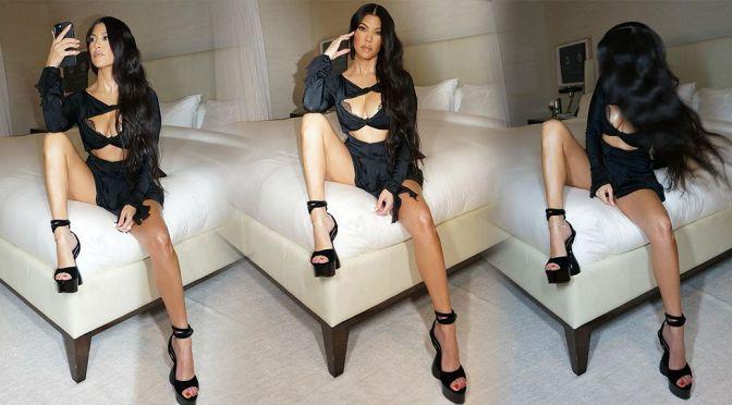 Kourtney Kardashian Sexy Breasts And Legs