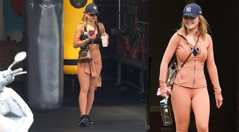 Rita Ora Sexy In Bra And Leggings
