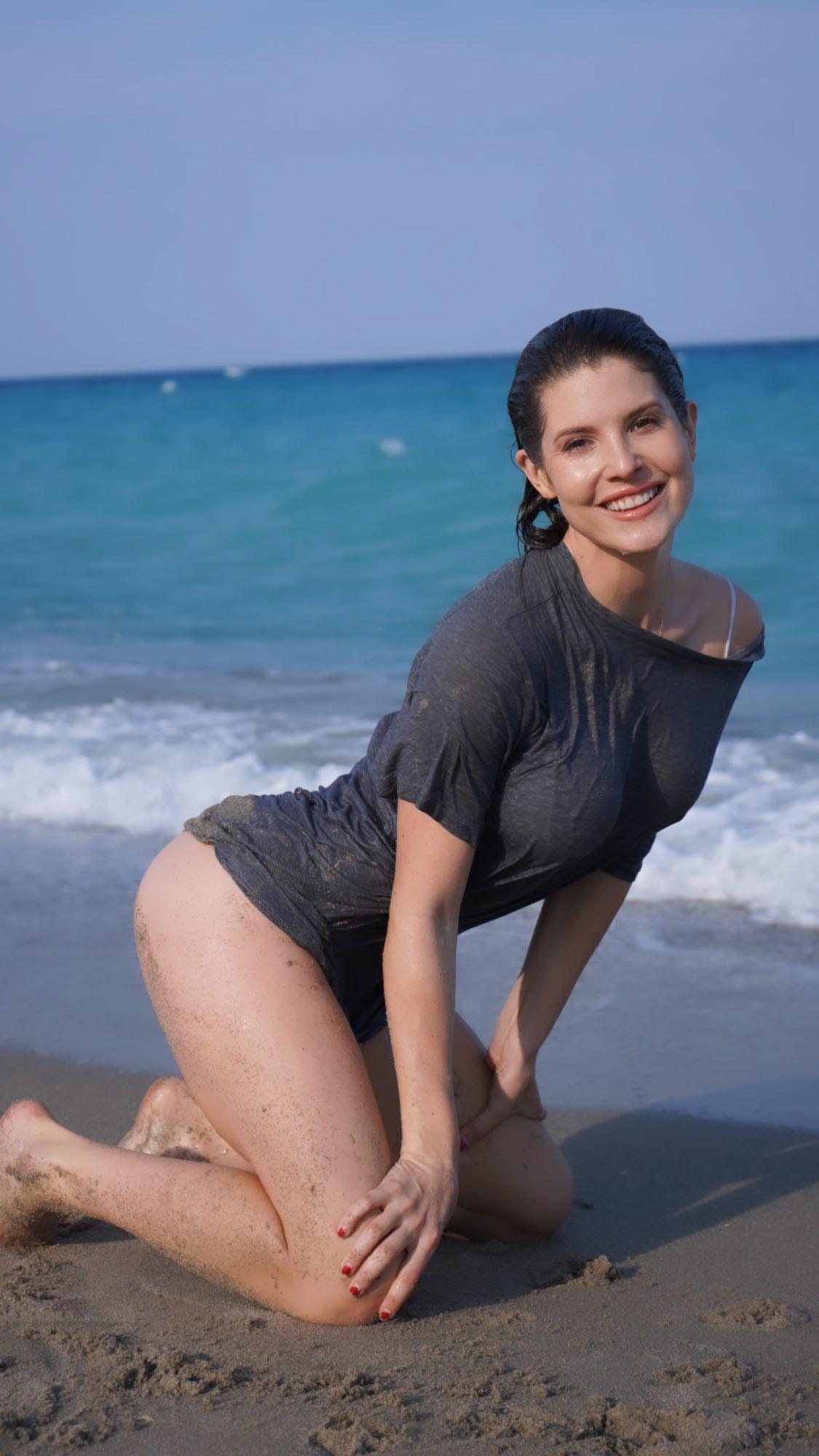 Amanda Cerny In Wet Shirt