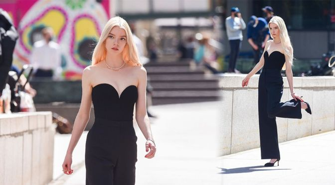 "Anya Taylor-Joy – Gorgeous in Black Dress On the""Tiffany"" Photoshoot in New York"