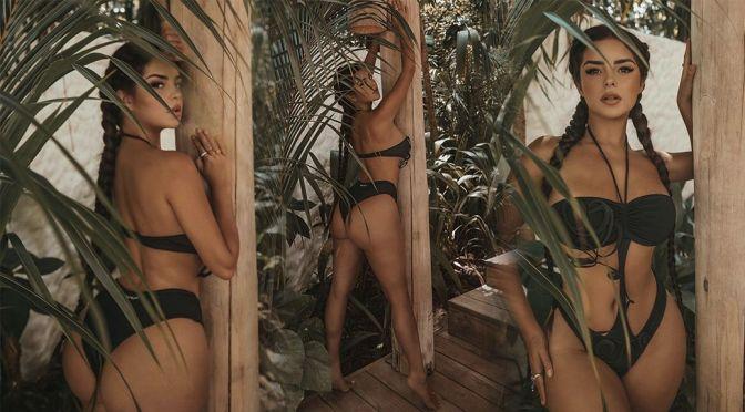 Demi Rose Mawby – Stunning Body in a Sexy Black Bikini