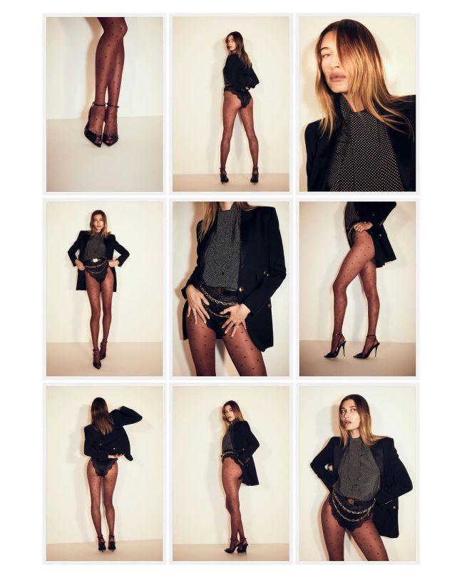 Hailey Bieber Beautiful Legs In Tights