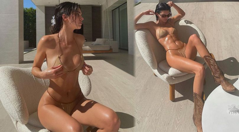 Kenall Jenner Toned Body In Tiny Bikini
