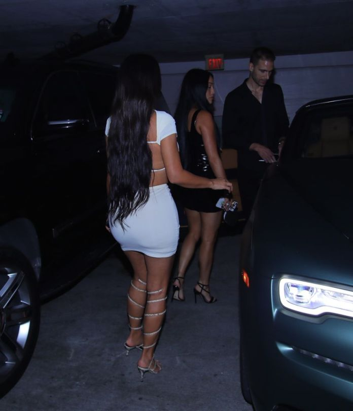 Kim Kardashian Hot Mini Skirt