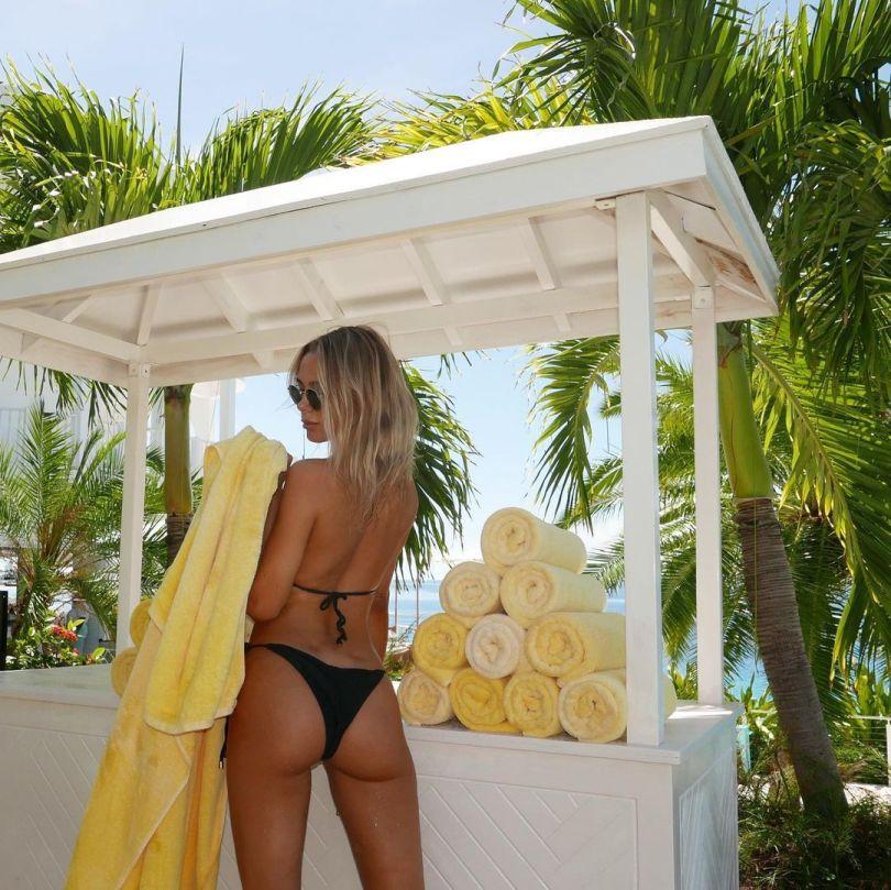 Kimberley Garner Sexy In Black Bikini
