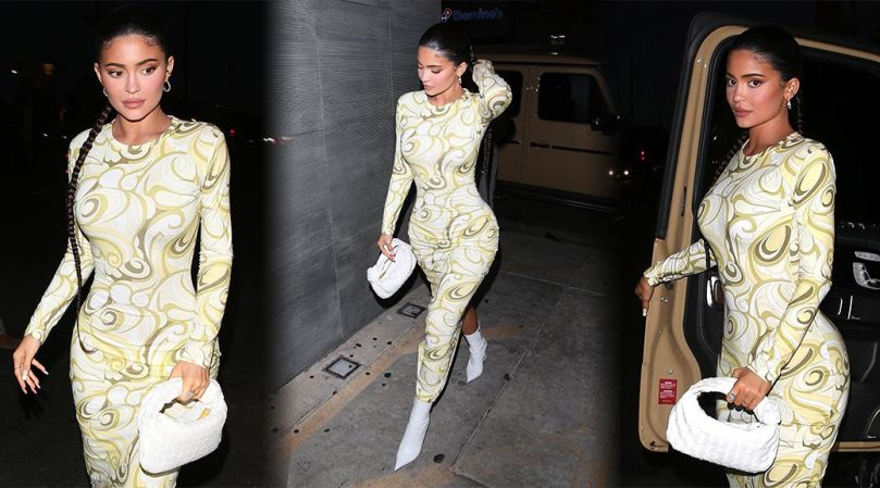 Kylie Jenner Stunning Body In Tight Dress
