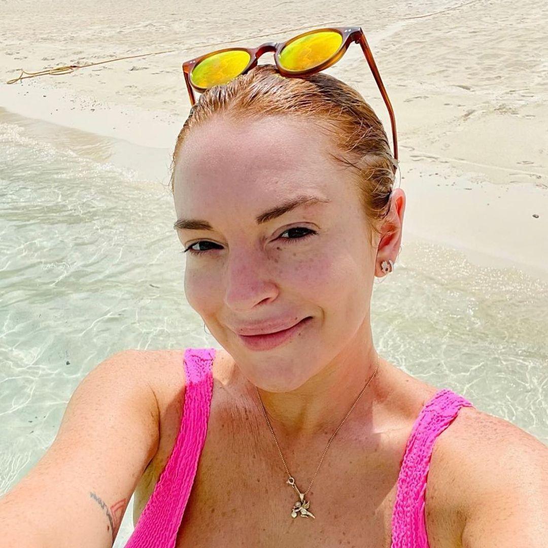 Lindsay Lohan On Beach