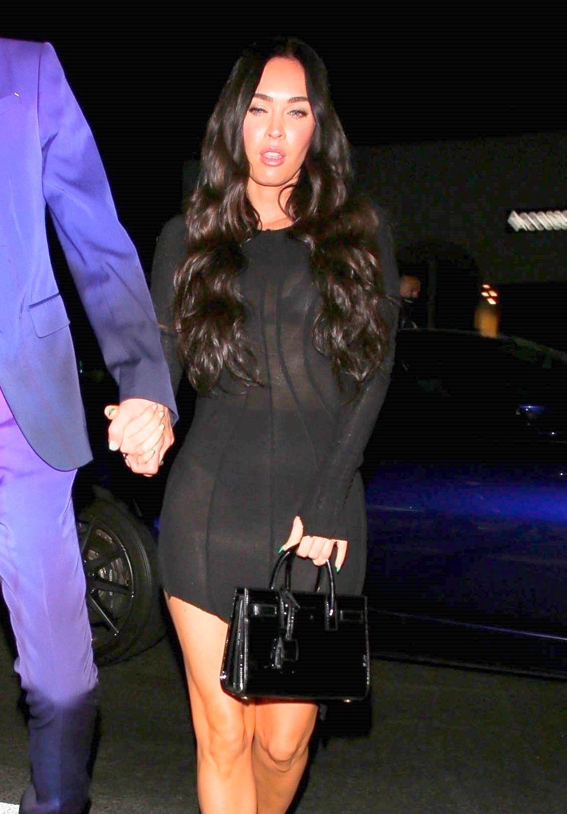 Megan Fox Sexy Black Dress