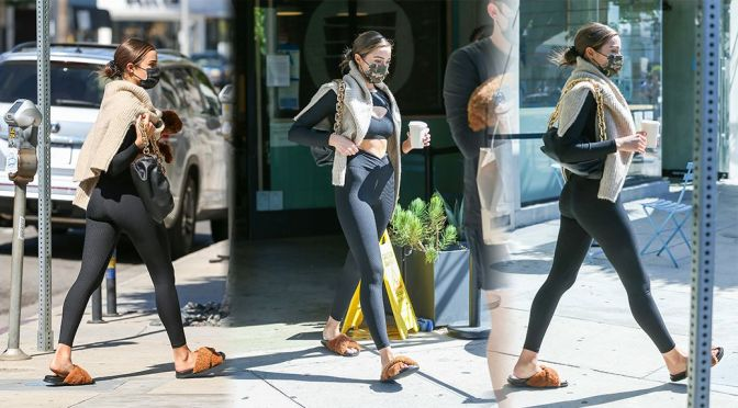 Olivia Culpo – Sexy Ass in Black Leggings Out in Los Angeles