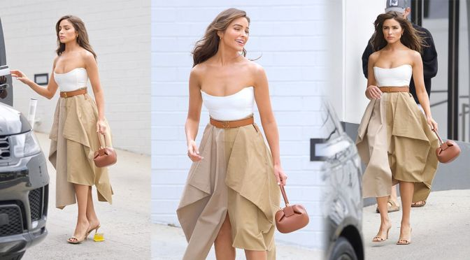 Olivia Culpo – Gorgeous in a Beautiful Dress Out in Beverly Hills