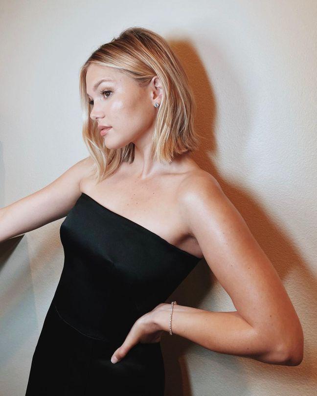 Olivia Holt In Sexy Black Dress