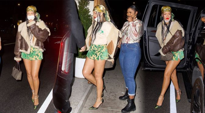 Rihanna – Spectacular Legs at The Nice Guy in Los Angeles
