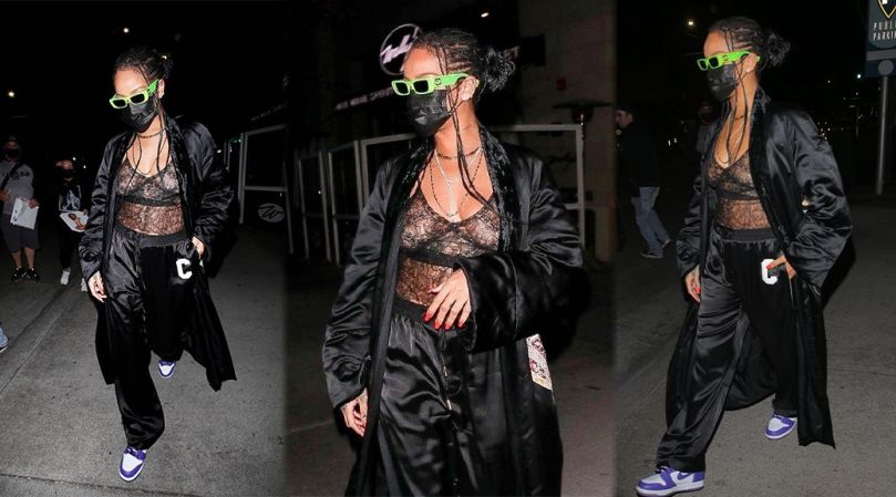 Rihanna Tits And Nipples In See Through Bra