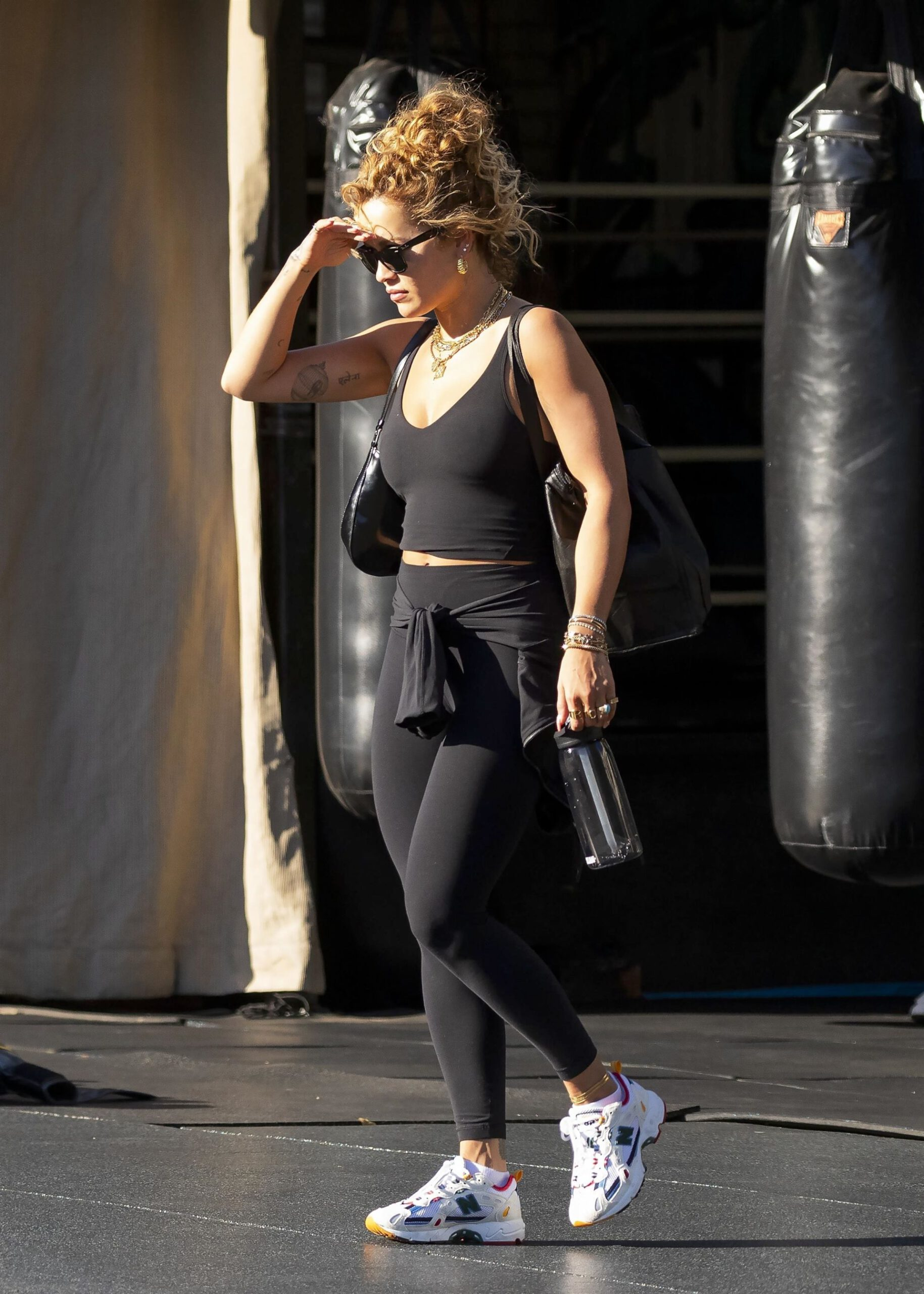 Rita Ora In Sports Bra