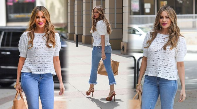 Sofia Vergara – Stunning in Jeans Out in Pasadena