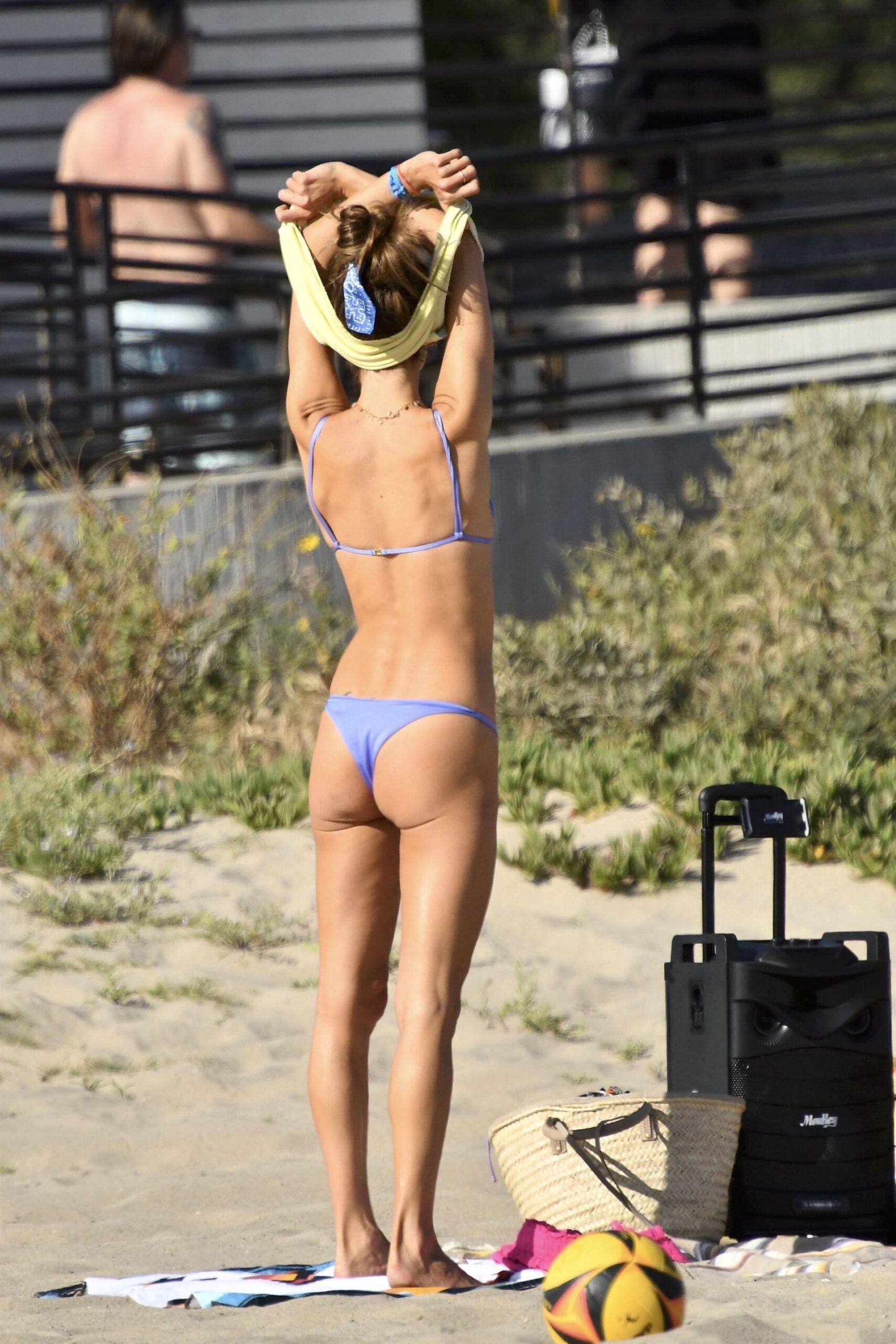 Alesandra Ambrosio In Thong Bikini