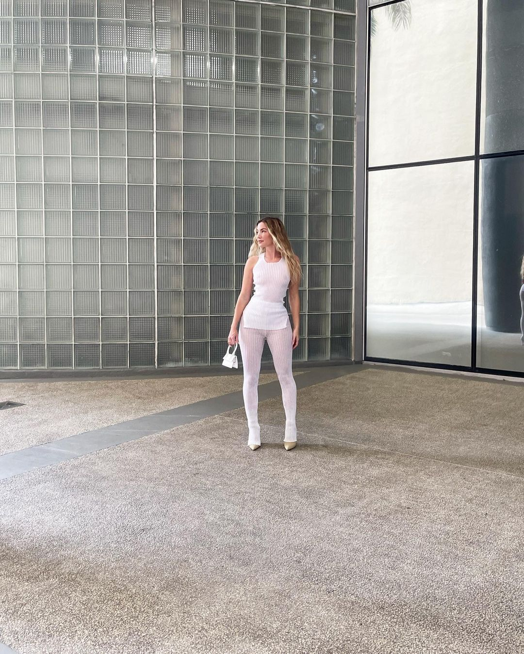 Casie Davis Sheer Outfit