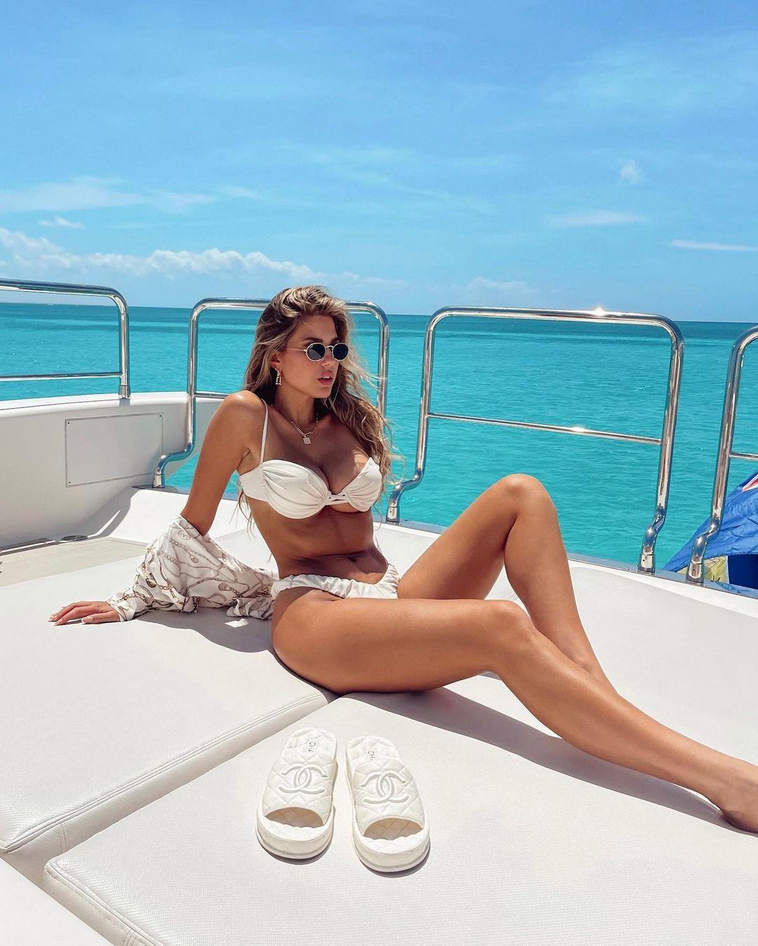 Kara Del Toro In White Bikini