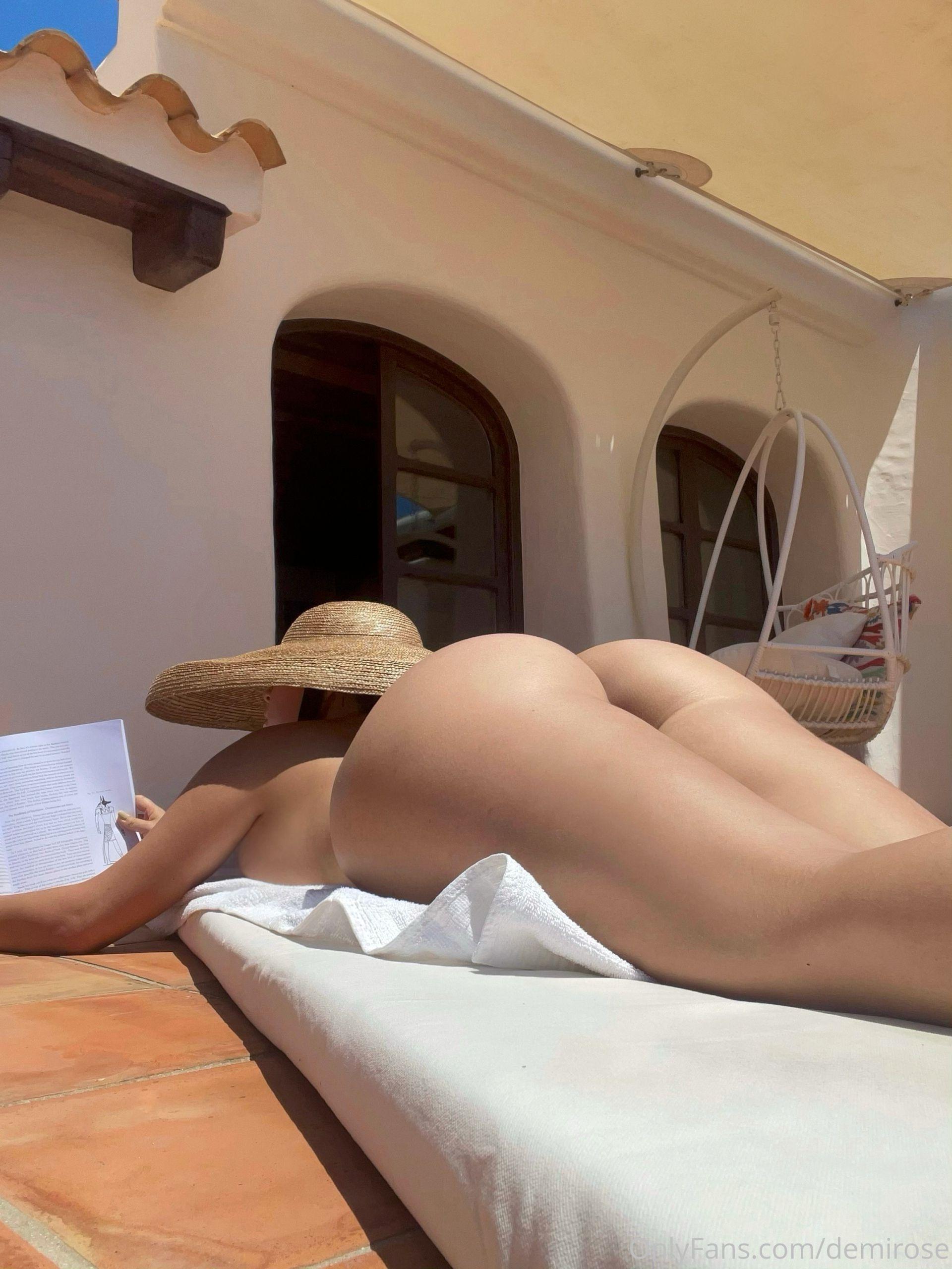 Demi Rose Mawby Naked Sun Bathing