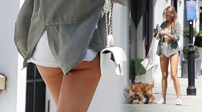 Kimberley Garner – Gorgeous Legs and Ass in Shorts Out in London