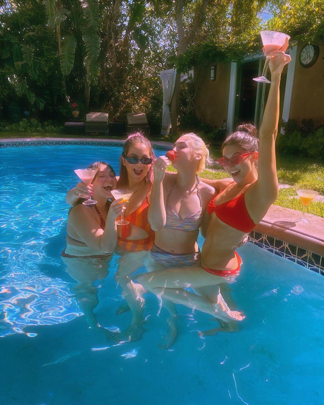 Kira Kosarin In Pool