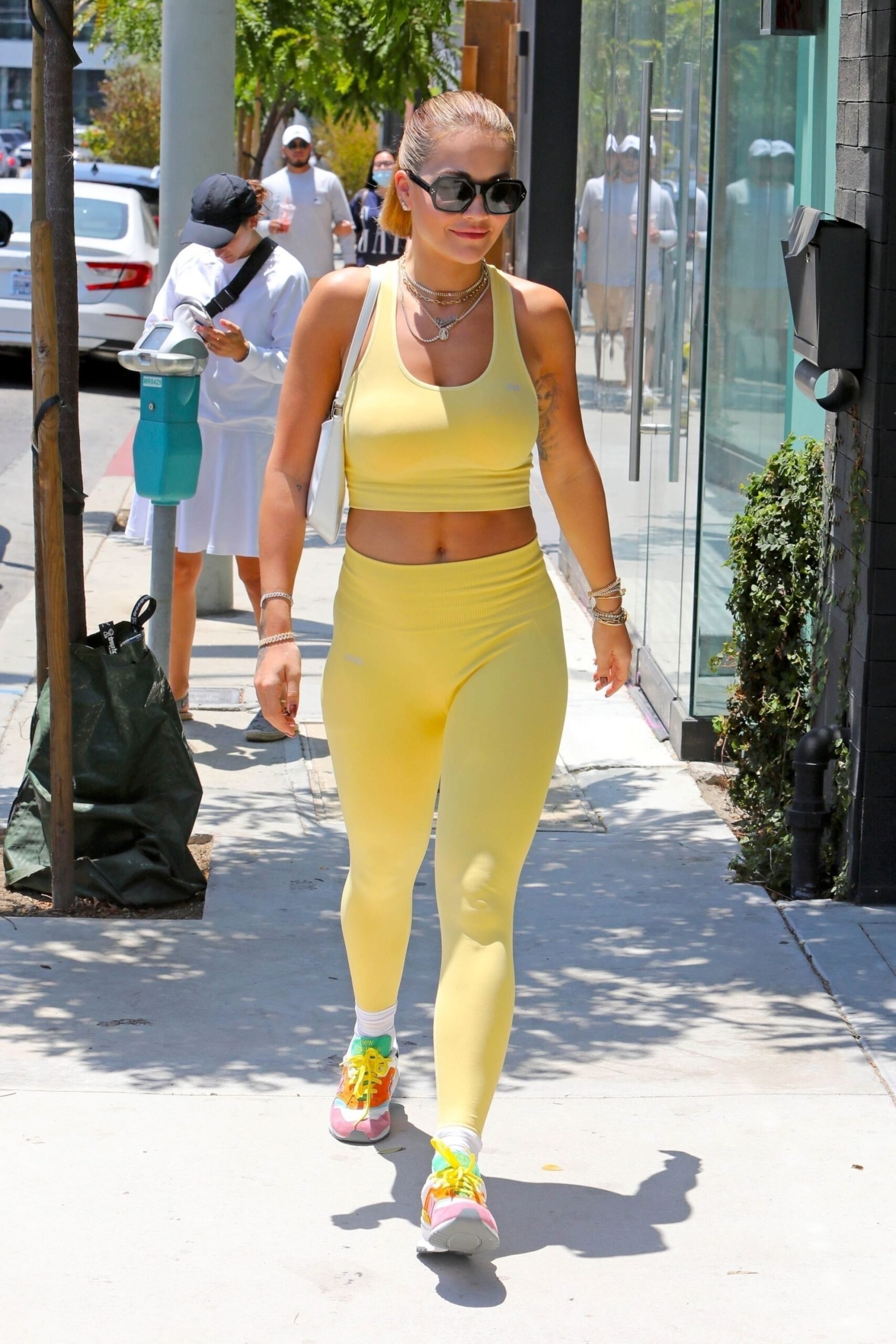 Rita Ora Sexy Gym Outfit