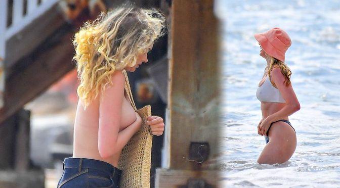 Elsa Hosk – Beautiful Big Topless Boobs at the Beach in Santa Monica