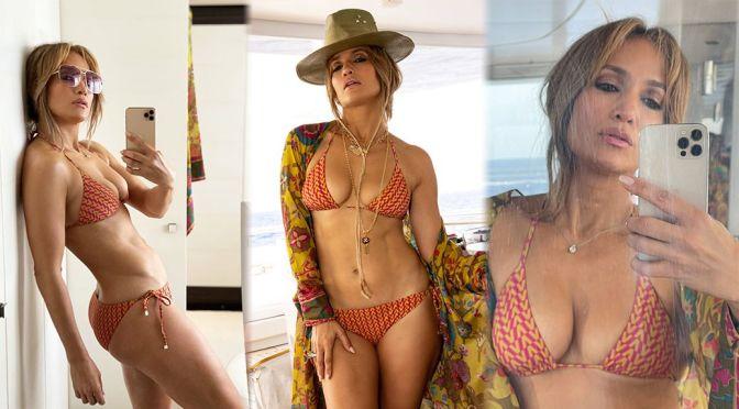 Jennifer Lopez – Fantastic Boobs and Toned Body in a Sexy Bikini Video