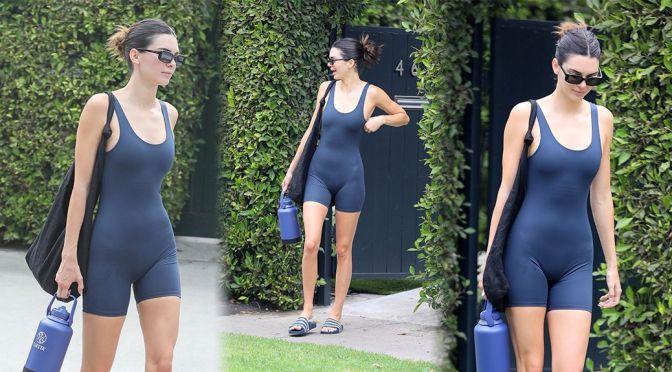 Kendall Jenner – Hot Body in a Sexy Bodysuit Out in West Hollywood