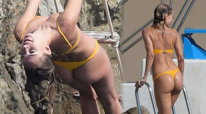 Kimberley Garner – Perfect Ass in a Thong Bikini at Hotel du Cap-Eden-Roc in Antibes
