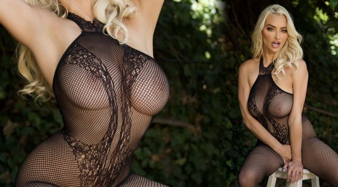 Lindsey Pelas – Magnificient Big Breasts and Nipples in a Sexy Sheer Lingerie (NSFW)