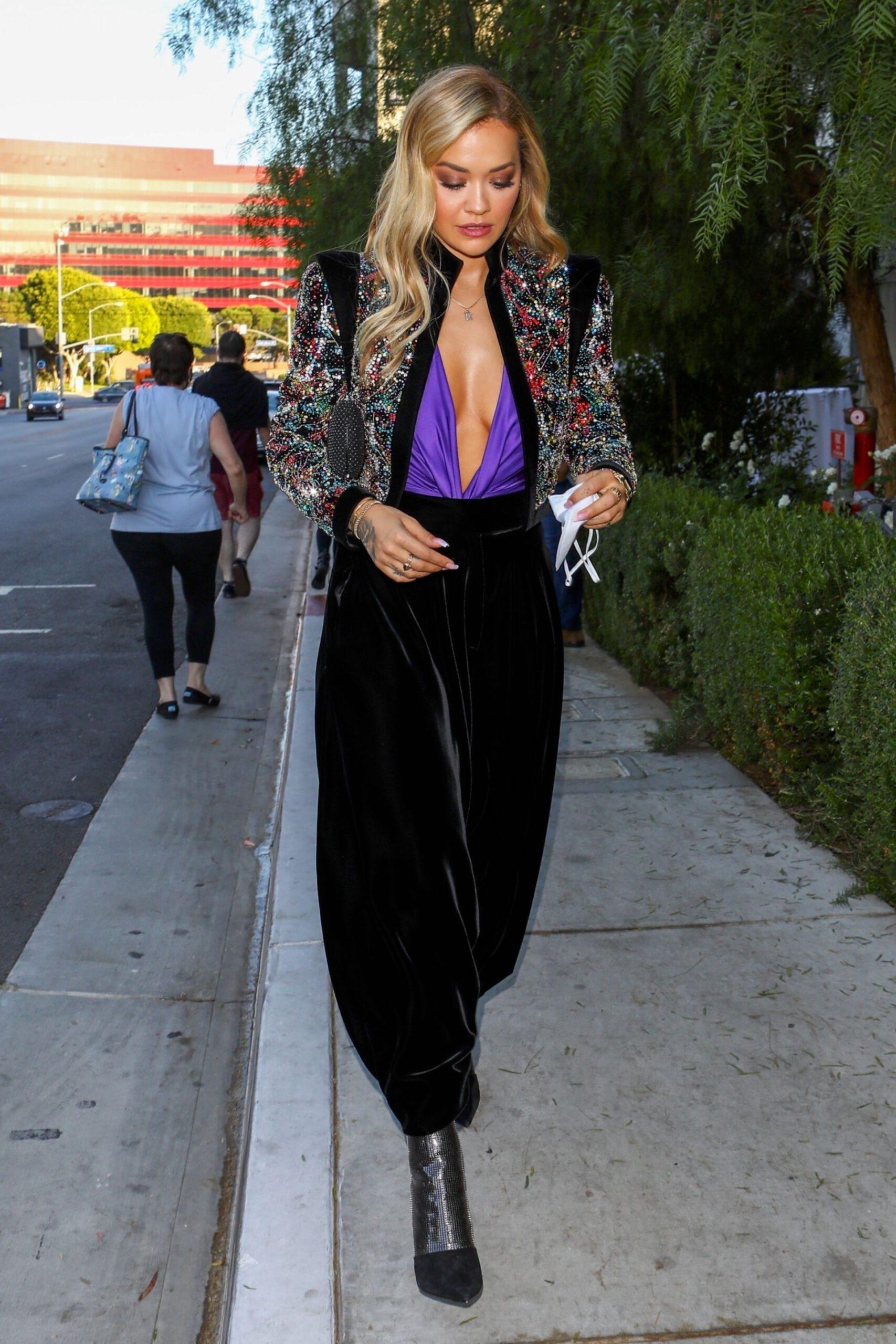 Rita Ora Braless
