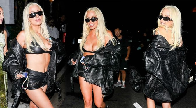 Tana Mongeau – Sexy Body in Skimpy Outfit Out in West Hollywood