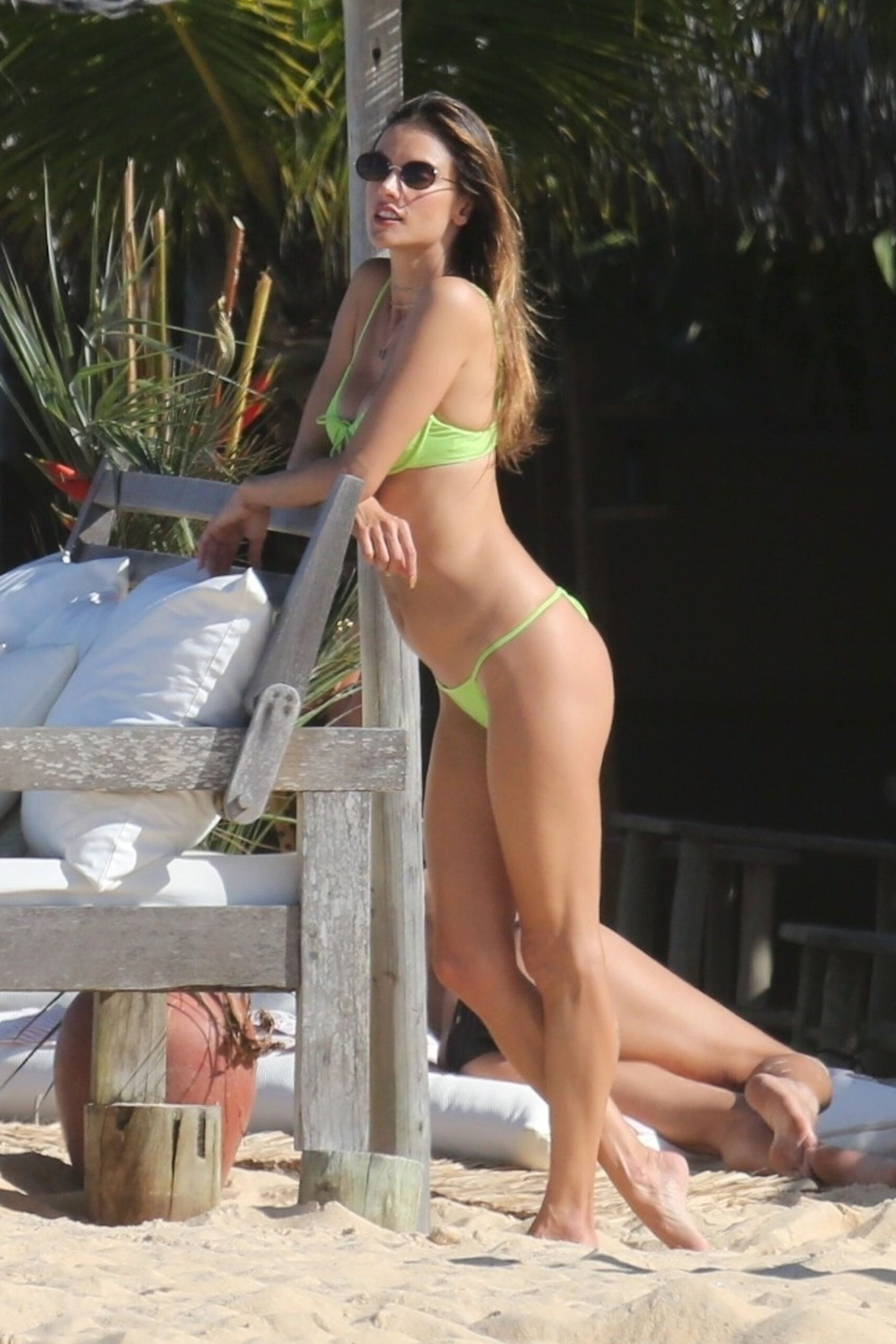 Alessandra Ambrosio In A Tiny Bikini