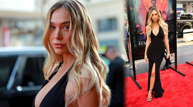 """Alexis Ren – Stunning Body in Black Dress at """"Reminiscence"""" Premiere in Hollywood"""