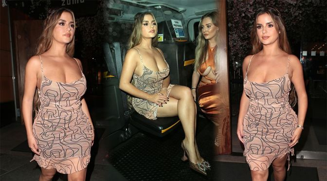 """Demi Rose Mawby – Beautiful CUrvy Body at """"Pretty Little Thing"""" Event in London"""