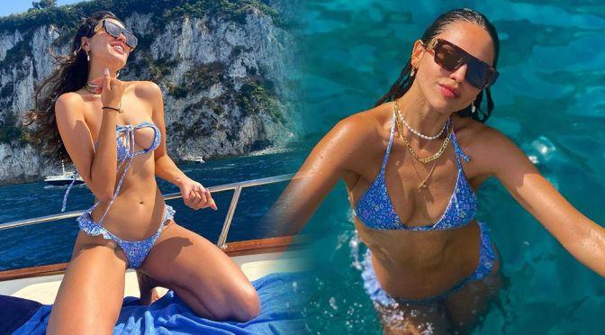 Eiza Gonzalez – Beautiful Boobs in a Skimpy Bikini in Capri