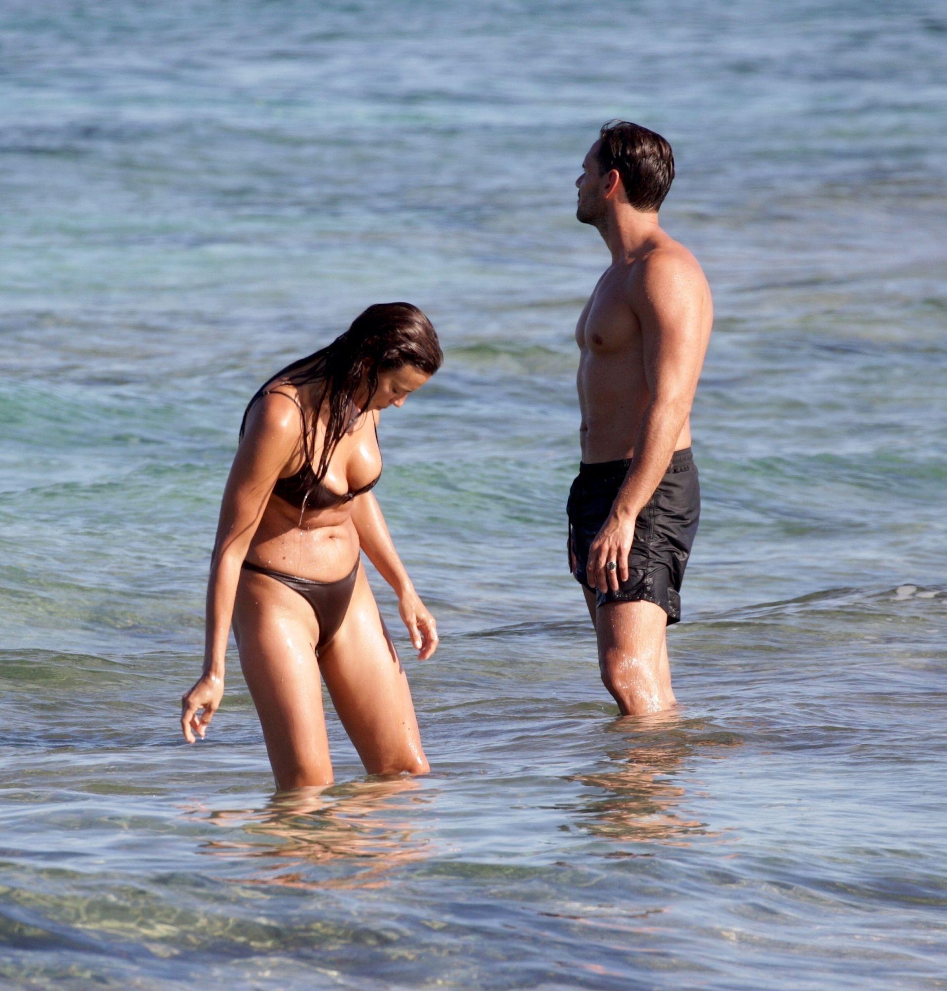 Irina Shayk In Thong Bikini