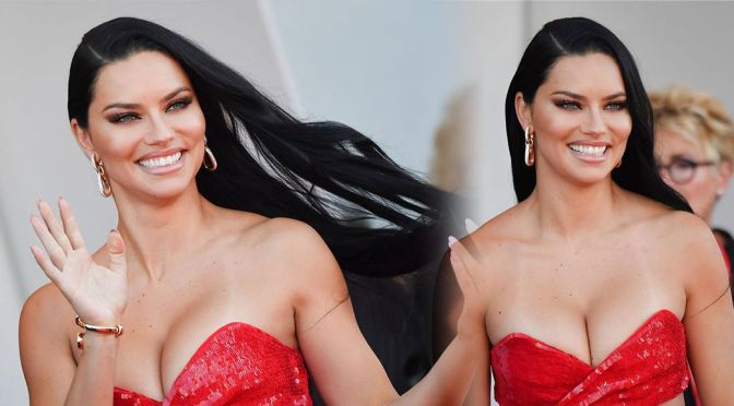 """Adriana Lima – Gorgeous Big Boobs at """"Madres Paralelas"""" Premiere in Venice"""