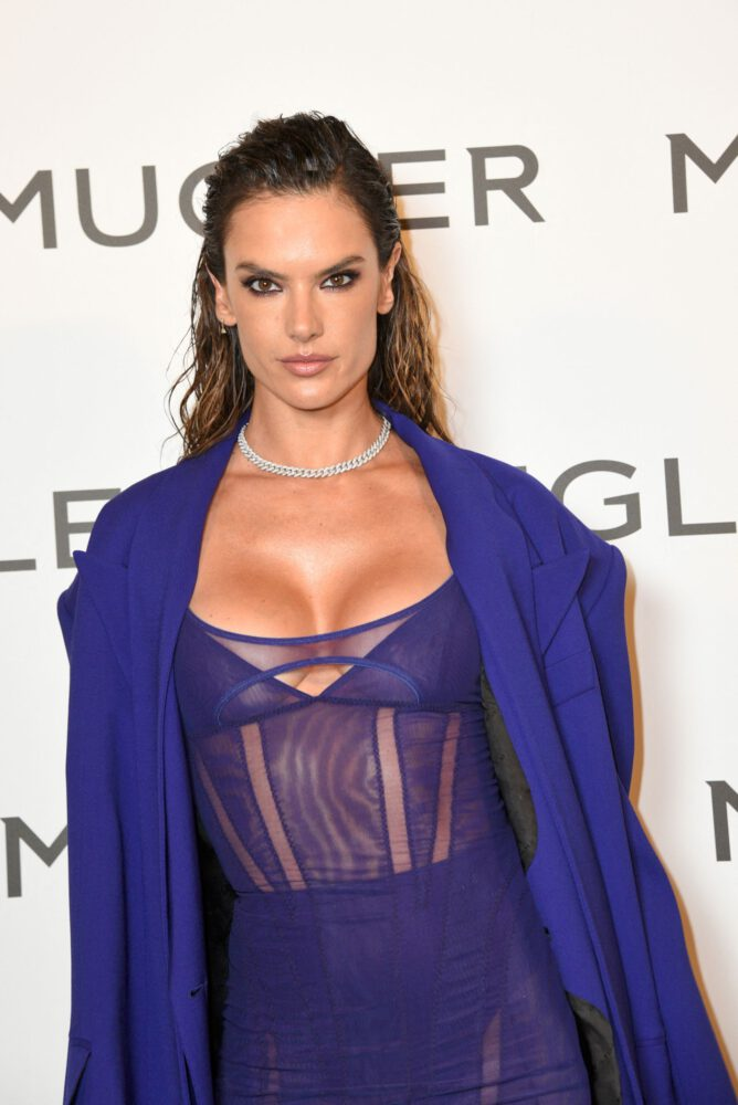 Alessandra Ambrosio Sexy See Through Outfit