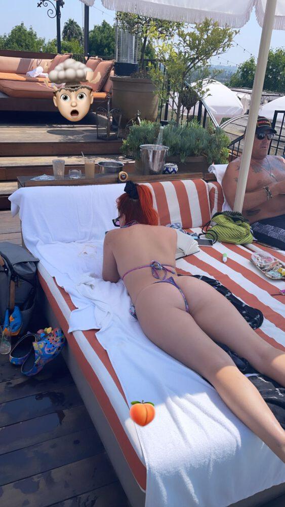 Bella Thorne Ass In Tiny String Bikini