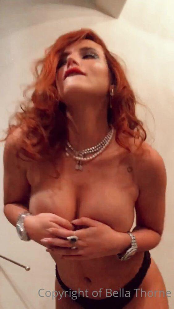 Bella Thorne Topless Black Panties