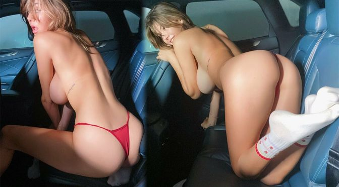 Ashley Tervort – Fantastic Big Tits in a Sexy Red Thong Panties (NSFW)