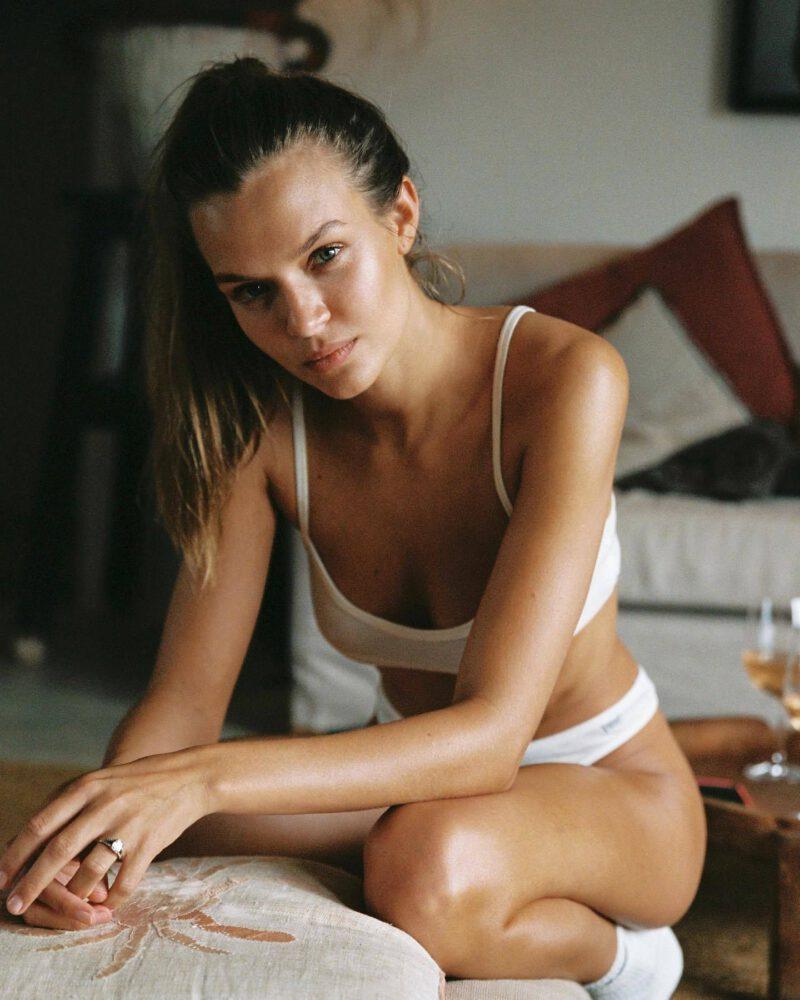 Josephine Skriver In Tiny Underwear