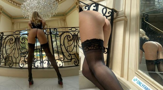 Lottie Moss Spectacular Ass In Thong Panties